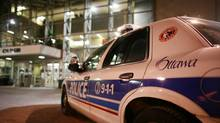 An Ottawa police car is seen outside headquarter. (DAVE CHAN For The Globe and Mail)