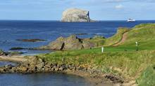 The 13th hole at the Glen Golf Club in North Berwick is one of the most popular of East Lothian golf courses.