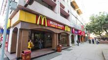 General view of the outside of the McDonald's restaurant at the Anupam Complex, Saket, in New Delhi, India, in this file photo. (Simon de Trey-White For The Globe and Mail)