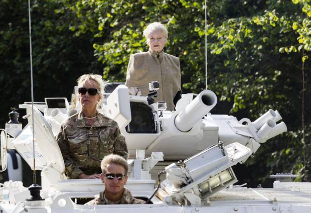 From fashion to social causes, designer Vivienne Westwood (top) has never shied away from making a statement. Here, she rides a white tank through Prime Minister David Cameron's constituency in Oxfordshire to his home in Chadlington in a protest against fracking.