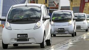 The Mitsubishi i-MiEV (Mitsubishi innovative Electric Vehicle).