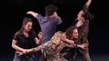 Allen Kaeja's X-ODUS is a work for five dancers. (Irina Popova)