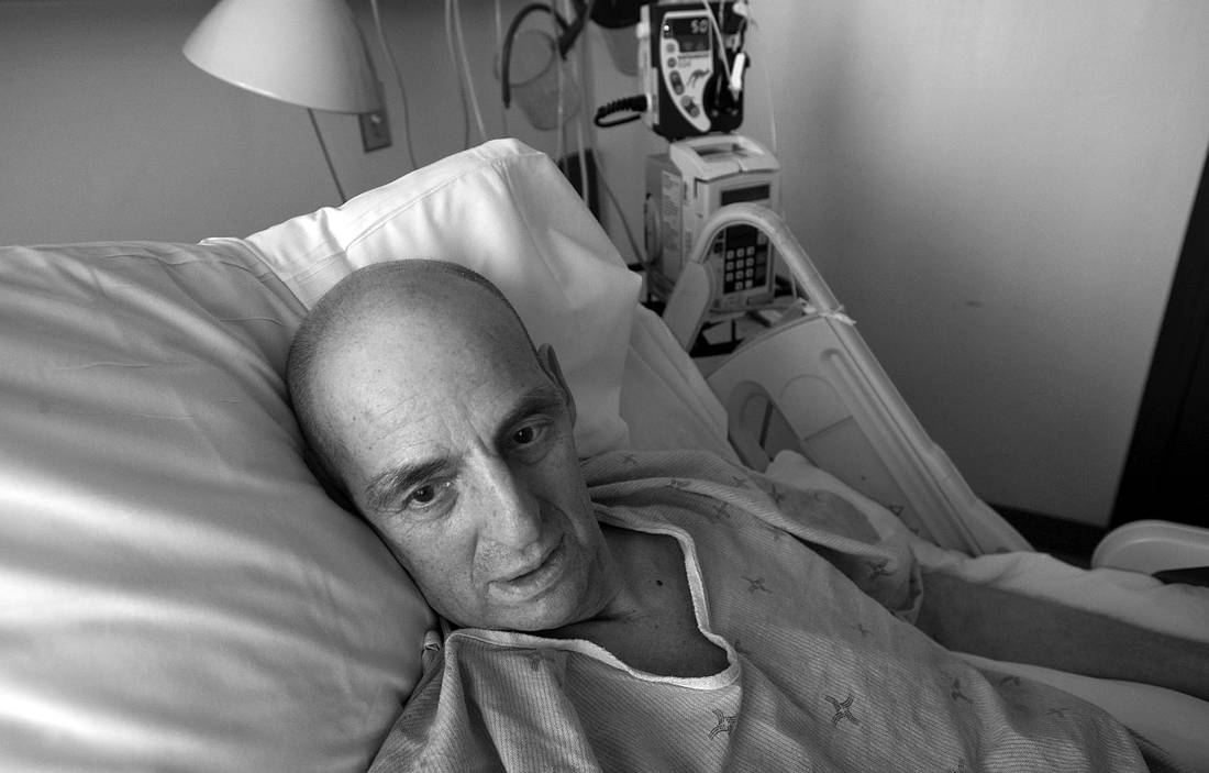 Lyle Cassidy, age 64 from Stettler, Alberta, is seen at Toronto General Hospital after having his lung removed from a result of being diagnosed with mesothelioma, a cancer exclusively associated with exposure to asbestos. Cassidy was diagnosed in December 2013 and was exposed to asbestos when working in construction and at a power plant in the 1970's.