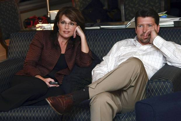 Alaska Governor Sarah Palin and husband Todd watch the final 2008 presidential debate. Weeks earlier, Ms. Palin appeared in the most widely-watched vice-presidential debate in history.