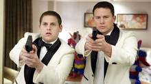 "Jonah Hill, left, and Channing Tatum in a scene from ""21 Jump Street"" (Scott Garfield)"