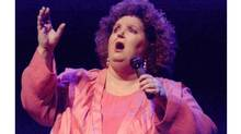 SEE WIRE STORY-AM-Rita-Cancelled (CPT107-Feb.20)--PEGGED FOR EXTINCTION--CBC Television pegged Rita MacNeil's musical variety show Rita and Friends for extinction more than a year ago in spite of good reviews and ratings, says its former producer. MacNeil performs inKingston, Ont. in this Apr., 1996 photo. (CP PHOTO) 1996 (Kingston Whi g-Standard/Eric Wynne) (CP)