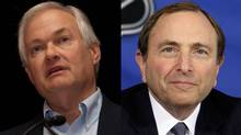 Don Fehr - executive director of the National Hockey League Players Association - and Gary Bettman - NHL Commissioner (TGAM)