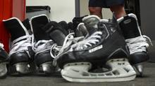 Skates are seen in this file photo. (Jeff Vinnick For The Globe and Mail)