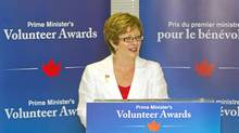 The Honourable Diane Finley, Minister of Human Resources and Skills Development, announced the first call for nominations for the Prime Minister's Volunteer Awards in Kitchener, Ontario. Tuesday, July 12, 2011. (Kyle Rodriguez/MARKETWIRE PHOTO/Human Resources and Skills Development Canada/Kyle Rodriguez/MARKETWIRE PHOTO/Human Resources and Skills Development Canada)