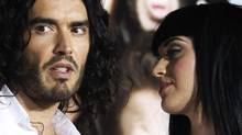 "Russell Brand and Katy Perry at the premiere of his film ""Get Him to the Greek"" at the Greek theatre in Los Angeles on May 25, 2010. (Reuters)"