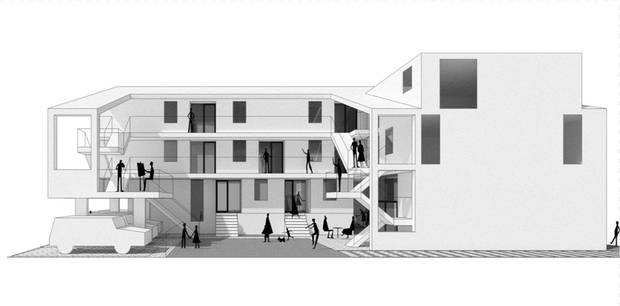 "This families are calling their Our Urban Village project ""co-housing light."""