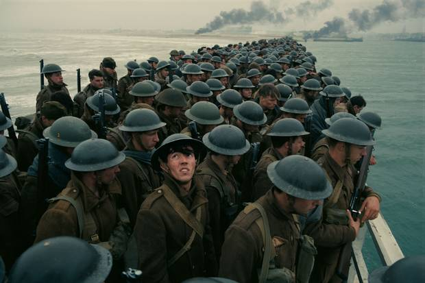 Dunkirk is a film capturing the evacuation of Allied troops from a European beach in the Second World War.