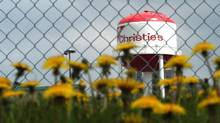The former Christie Cookie plant in Etobicoke is well-known for its water tower that is visible from the nearby Gardiner Expressway. (Carlos Osorio/The Globe and Mail)