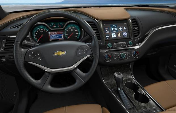 Interior of the 2014 Chevrolet Impala.