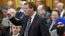 Foreign Affairs Minister John Baird speaks during Question Period in the House of Commons on Nov. 1, 2011. (BLAIR GABLE/REUTERS)