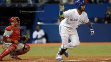 Juan Francisco's seventh-inning homer was one of three in the frame for the Toronto Blue Jays as they defeated the Philadelphia Phillies on Wednesday, May 7, 2014. (Dan Hamilton/USA Today Sports)