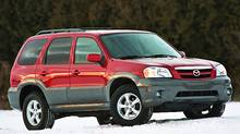 2005 Mazda Tribute (Photo by Arne Glassbourg/Mazda)