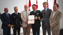 Colonel Homer Tien, a military trauma surgeon with the Canadian Armed Forces receives the Major Sir Frederick Banting Term Chair in Military Trauma Research. (Supplied)