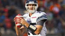 QB Ricky Ray of the Toronto Argonauts prepares to throw against the B.C Lions during the first half of their CFL game in Vancouver, British Columbia, September 15, 2012. (BEN NELMS/REUTERS)