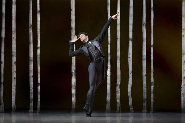 Guillaume Côté in Onegin, an upcoming production at the National Ballet of Canada.