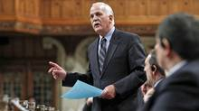 Public Safety Minister Vic Toews speaks during Question Period in the House of Commons on Feb. 15, 2012. (Chris Wattie/Reuters)