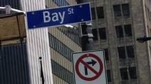 Bay Street sign in heart of Toronto's financial district (Deborah Baic/The Globe and Mail)
