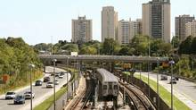 There are 54 heavy rail stations outside the downtown of Toronto, but no more than 16 of them have substantial amounts of station-related development. (DAVE CHAN/DAVE CHAN FOR THE GLOBE AND MAIL)