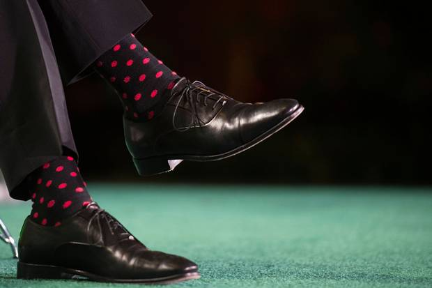 The Prime Minister's socks on Tuesday night.