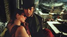 Anne Hathaway and Hugh Jackman in Les Misérables.