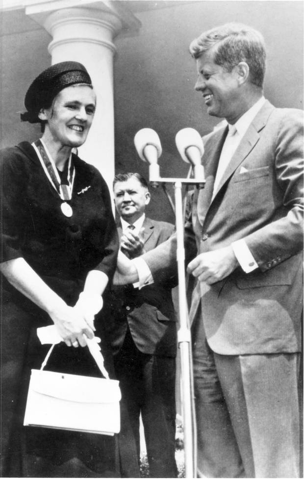 U.S. President John F. Kennedy presented the President's Award for Distinguished Federal Civilian Service to Dr. Kelsey in August, 1962.