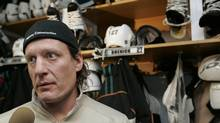 San Jose centre Jeremy Roenick the day after Sharks the Sharks were eliminated from the 2009 playoffs. (Paul Sakuma)