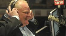 Toronto mayor Rob Ford discusses his consumption of alcohol at the Taste of the Danforth Friday night, during his weekly radio show with brother Doug at the CFRB radio studios, Sunday August 11, 2013. (J.P. MOCZULSKI FOR THE GLOBE AND MAIL)