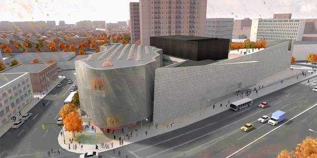 The Winnipeg Art Gallery has received pledges from the federal government, the City of Winnipeg and private donors for its planned new 3,700-square-metre Inuit Art Centre. Renderings above show the proposed interior and exterior of the building.