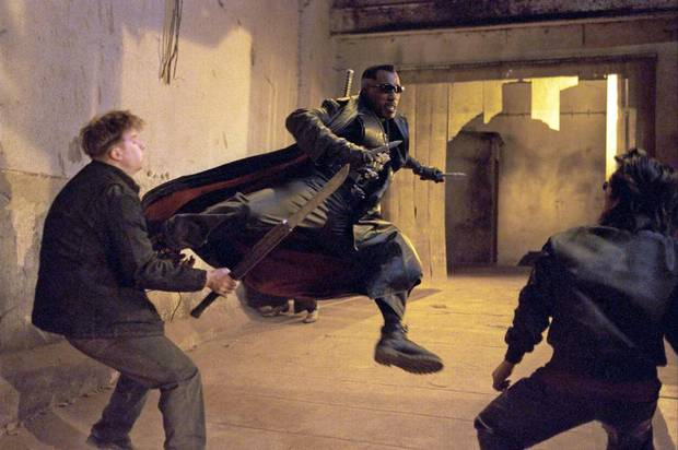 Wesley Snipes takes care of some Vampires in Blade II.