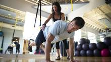 'I came to[Pilates] after ab surgery in 2004. I like strengthening my core with Lisa Schklar,' (above), says Mr. Zigomanis. (Kevin Van Paassen/The Globe and Mail)