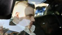 Michael Rafferty is transported from the courthouse in the back of police cruiser in London, Ont., on March, 14, 2012. Mr. Rafferty is facing charges in the death of Victoria (Tori) Stafford. (DAVE CHIDLEY/THE CANADIAN PRESS/DAVE CHIDLEY/THE CANADIAN PRESS)