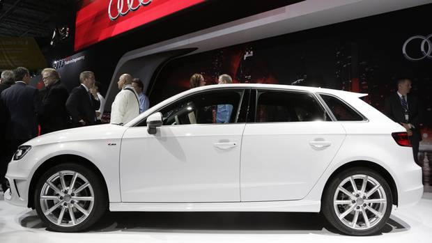 The 2015 Audi A3 TDI Sportback. The A3 was named Car of the Year at the World Car Awards at the Jacob Javits Convention Center during the New York International Auto Show in New York. (Mark Lennihan/AP Photo)