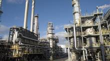 Suncor's Montreal refinery. The Quebec government will hold its own hearings into Enbridge Inc.'s proposal to reverse a pipeline to bring western crude to Quebec to feed Suncor's Montreal operation and the larger Valero refinery downriver across from Quebec City. (Suncor Energy)