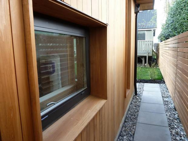 A window well of Passive House.