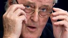 Former prime minister Brian Mulroney listens to a question from Lead Commission Counsel Richard Wolson at the Oliphant Commission in Ottawa, Tuesday May 19, 2009. (Sean Kilpatrick/The Canadian Press/Sean Kilpatrick/The Canadian Press)