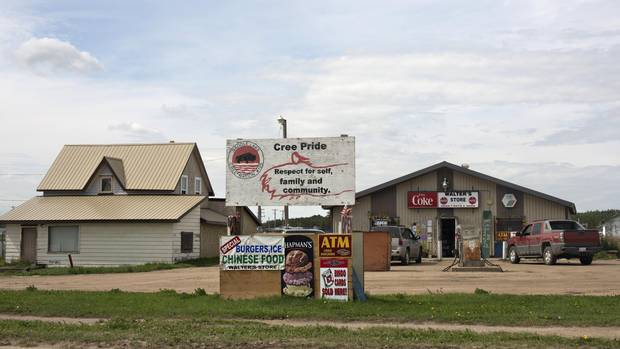 Walter's convenience store in Saddle Lake Alberta, July 21, 2016. Saddle Lake reserve gets its water from the lake, which is classified as surface water and INAC considers this a risky water source.
