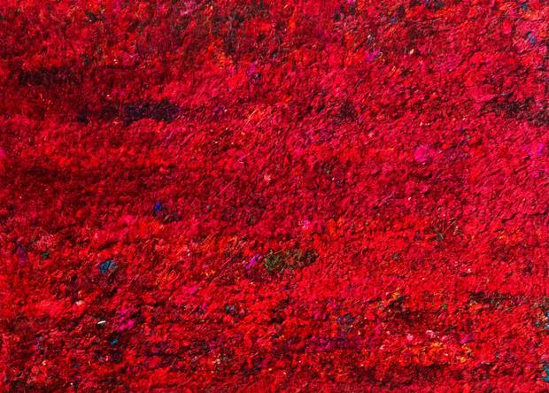 Red Sari Silk Rug By Bettina Juul Eilersen For To Be Living, $2,895 (U.S.