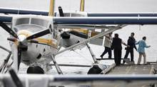 Passengers disembark a Harbour Air floatplane in Vancouver's Coal Harbour June 3, 2010. (John Lehmann/The Globe and Mail/John Lehmann/The Globe and Mail)