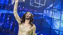 Austria's Conchita Wurst noted that the fact she won votes from Russia as well showed not all Russians were intolerant. (SCANPIX DENMARK/REUTERS)