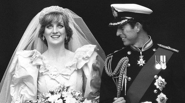 The Princess and Prince of Wales are seen on their wedding day in London in this July 29 1981 file photo. Prince Charles is to marry his partner Camilla Parker Bowles, the prince's office said Thursday, Feb. 10, 2005. Charles dated Camilla many years before he married Diana in 1981.