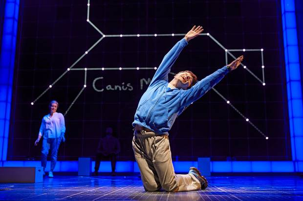 Julie Hale and Joshua Jenkins in The Curious Incident of the Dog in the Night-Time.