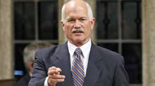 NDP Leader Jack Layton attacks the government during Question Period in the House of Commons on Sept. 29, 2009. (CHRIS WATTIE/Reuters)