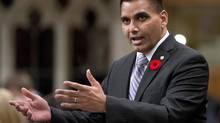 Conservative MP Parm Gill speaks during Question Period in the House of Commons on Oct. 31, 2013. (ADRIAN WYLD/THE CANADIAN PRESS)