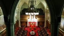 A view shows the Senate Chamber on Parliament Hill in Ottawa January 17, 2011. (CHRIS WATTIE/REUTERS)