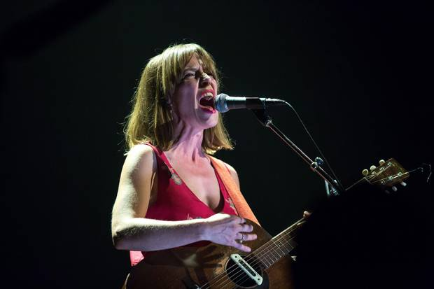 Feist performs during the Polaris Music Prize gala in Toronto on Monday, Sep. 18, 2017.